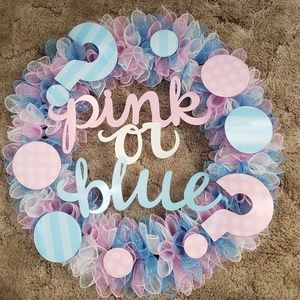 Pink or Blue ? Gender Reveal Wreath